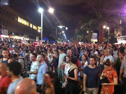 Preisexplosion: Massendemonstrationen in Israel / Tel Aviv