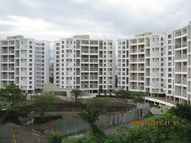 Excavated Plot of E Wing in Paranjape Schemes' Gloria Grace, 2 BHK & 3 BHK Flats, at Bavdhan, on Paud Road, Kothrud Annexe, Pune