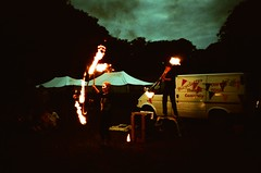 Twirling fire (KimpyWoo) Tags: uk england english film night analog 35mm fire lomo lca xpro lomography crossprocessed circus flames swindon crossprocessing 100 analogue filmcamera agfa wiltshire agfaprecisa 35mmphotography 100iso entertainers filmphotography precisa liddington 35mmcamera traditionalphotography vintagephotography agfaprecisact summerbreezefestival