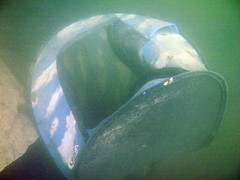 Powmill Quarry: Underwater Tent!! (gordon.milligan) Tags: uk water scotland junk underwater fife scuba diving tent bsac quarry dsac powmill