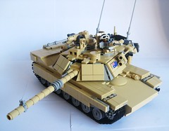 Lego M1A1 Abrams Fully Equipped Tactical position (LonnieCadet) Tags: afghanistan war gun tank gulf desert lego main tan gear australia battle mg weapon custom armour treads legoabramstank