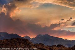 Monsoon Sunset, Alabama Hills (Eastern Sierra) (Robin Black Photography) Tags: light sunset color clouds cloudy ngc dramatic stormy explore monsoon tropical thunderstorm sierras sierranevada lonepine pinksky johnmuir naturesbest highsierra nationalgeographic flashflood easternsierras godrays crepuscularlight alabamahills movieroad violentweather explored singhray rangeoflight outdoorphotographer monsoonalmoisture canon5dmarkii robinblackphotography