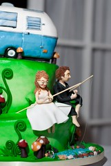 Sarah Boler Cake Profile (Queen City Bakeshop) Tags: camping wedding cake fishing trailer camper boler fishingweddingcake campingweddingcake bolerweddingcake