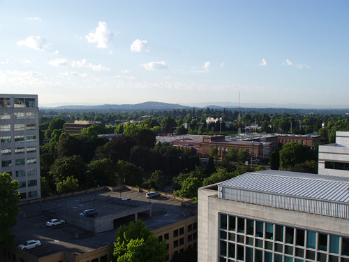 View from the DoubleTree, Portland, OR July 2011 by suzipaw