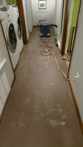 Hallway During Scraping