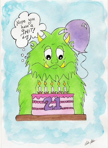 Grumpus 21st birthday message
