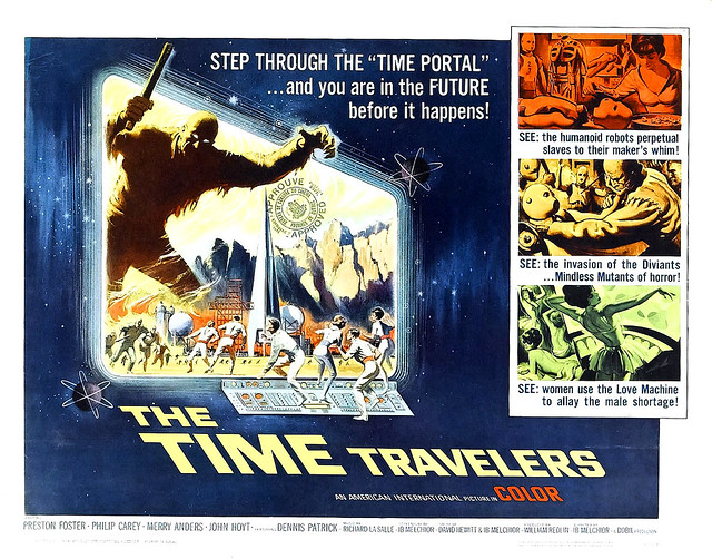 Reynold Brown - The Time Travelers (American International, 1964) half sheet