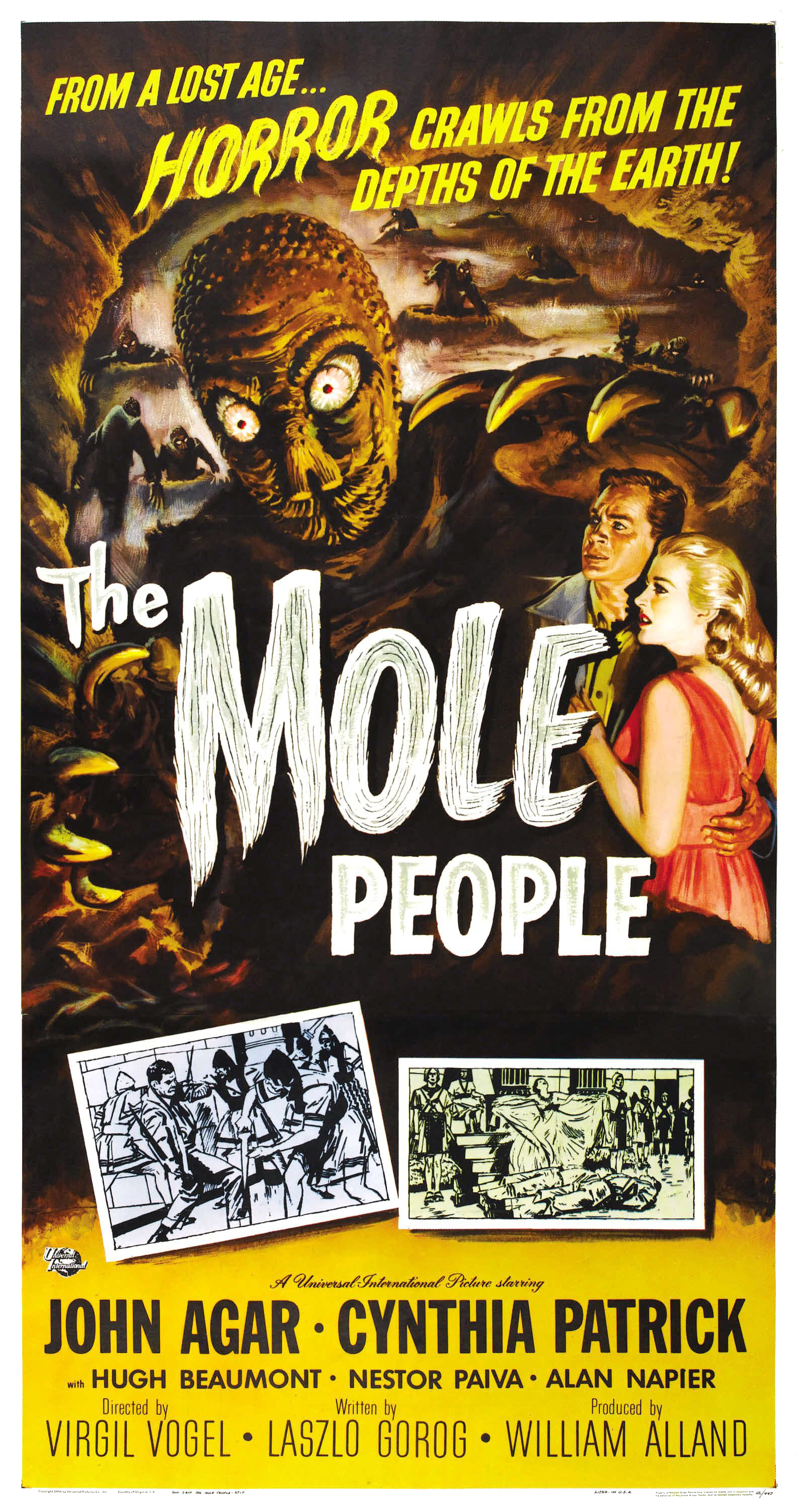 Reynold Brown - The Mole People (Universal International, 1956). Three Sheet