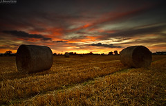 Orange Is The Colour Of Joy (.Brian Kerr Photography.) Tags: sunset sky orange colour canon landscape joy cumbria hay bales couds haybales eos5dmkii