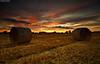 Orange Is The Colour Of Joy (.Brian Kerr Photography.) Tags: sunset sky orange colour canon landscape joy cumbria hay bales couds haybales eos5dmkii
