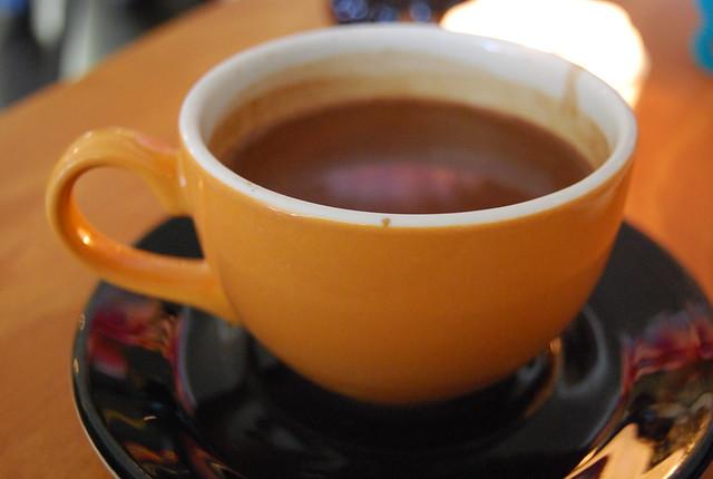 Chocolate a la taza de Sjokoladepiken en Stavanger