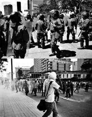la protesta (IV) (matteoprez) Tags: slr blancoynegro analog iso100 blackwhite colombia bogot photojournalism olympus desaturated biancoenero singlelensreflex expiredfilm fuji100 studentprotest blancetnoir lasptima om1n protestaestudiantil matteoprezioso protestastudentesca zuikoom35mm128 ley30 matteopreziosofotografa
