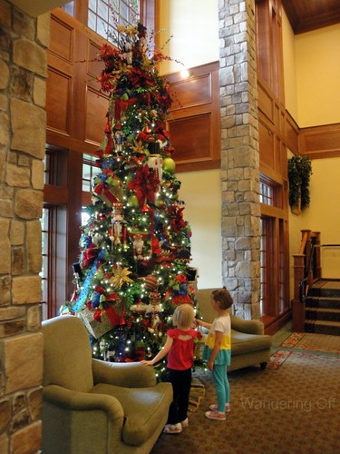 Christmas tree in July. Inn at Christmas Place. Pigeon Forge, TN