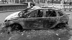 Burnt out car by rrreese