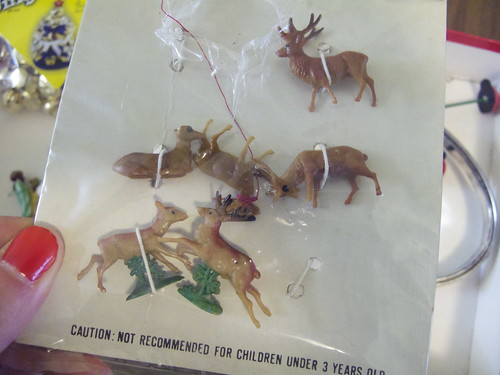 I found this set if miniature deer, too. The price on the back said 49 cents!