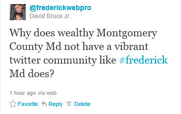 Why Do Frederick Twitter-ers Outshine MoCo Twitter-ers