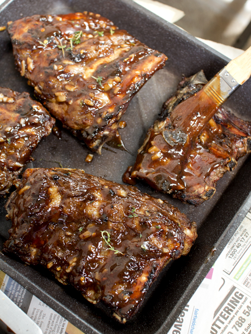 beef ribs with pomegranate bbq sauce