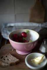 Pink @ Kitchen ... (Berta...) Tags: pink kitchen bread salt bowl butter radish