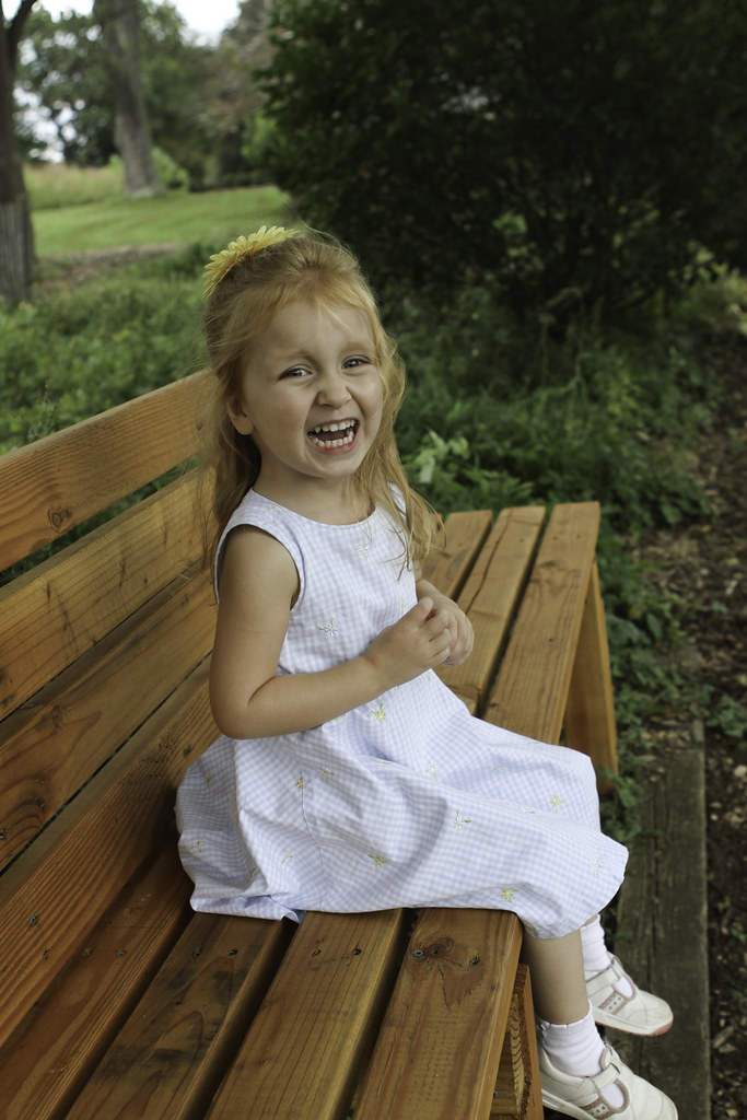 Abigail on bench