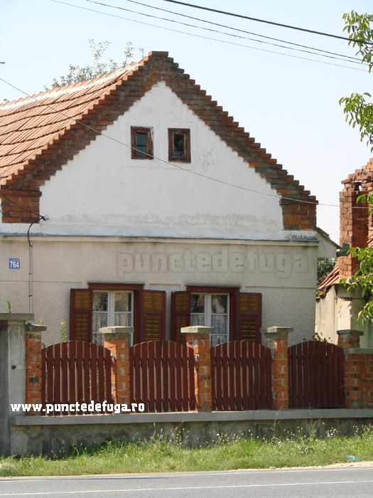 detaliu fatada casa comuna Coşteiu