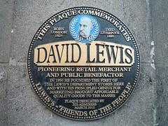 Photo of David Lewis black plaque