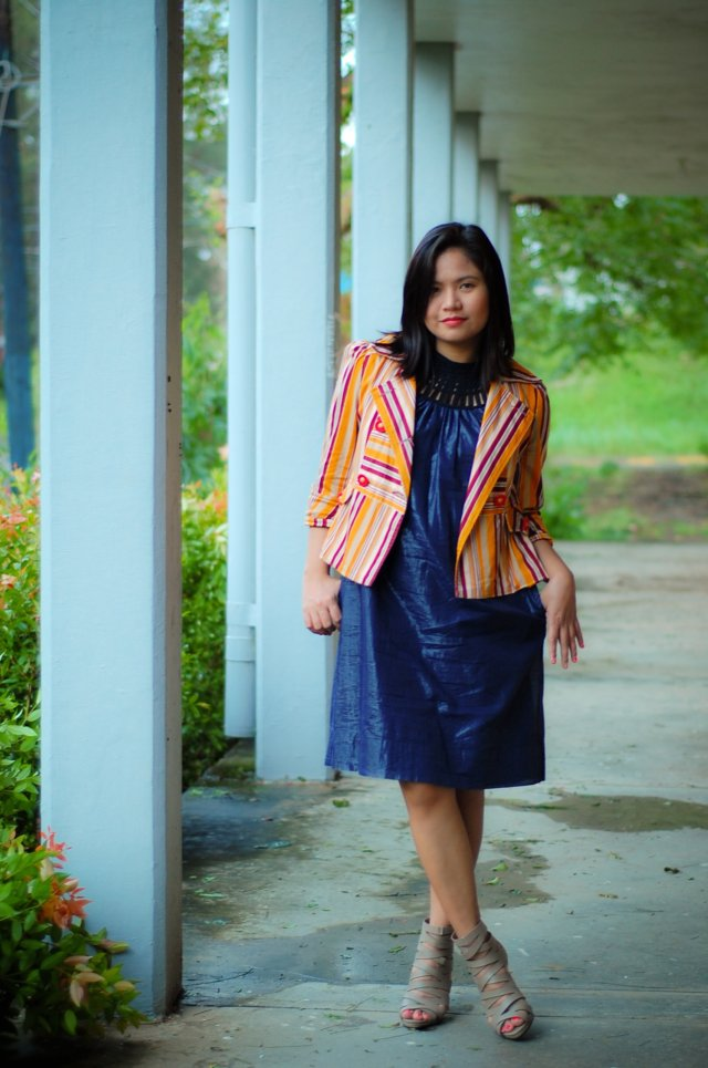Metallic Dress, Denise Katipunera, Personal style blog, thrift finds, Primadona shoes,