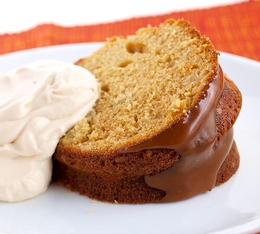 Salted Caramel Apple Pound Cake