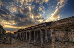 La Villa des Mystres {EXPLORED} (Girolamo's HDR photos) Tags: blue light sunset sky italy sunlight house art architecture clouds canon photography spring ancient ruins columns pompeii archeology hdr girolamo photomatix villaofthemysteries tonemapping canoneos50d cracchiolo omalorig