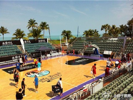 September 30th, 2011 - The Cable Beach Invitational Basketball Tournament court is located on the beach