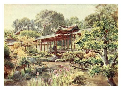 005-Jardin del templo budista de Nanjeji en Kyoto-Japanese gardens 1912-Walter Tyndale