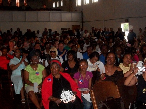 Over 1,000 people gathered at the King Solomon Baptist Church to call for Good Jobs Now, an initiative of SEIU and other labor organizations. The event took place on June 27, 2011. (Photo: Abayomi Azikiwe) by Pan-African News Wire File Photos