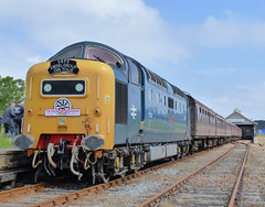 P1150342a - 55022 Wick 18/06/11 (VV773) Tags: english electric diesel explorer north rail class british locomotive railtour 55 napier far challenger wick deltic srps d9000 royalscotsgrey 55022