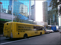 Metrolink bus, advertising ASB Bank