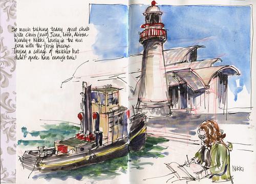 110702_02 PreTrip Sketching Day - Maritime Museum
