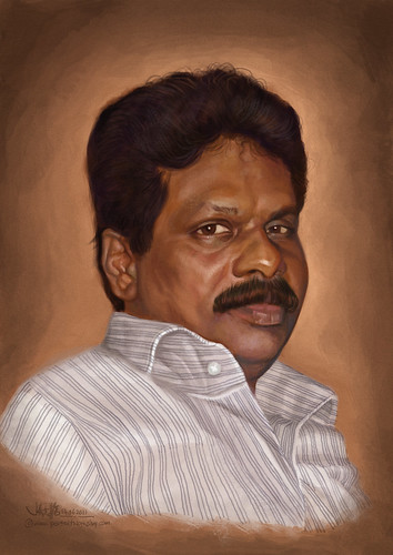 portrait painting of an Indian man