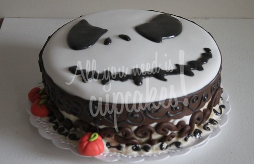 Nightmare before Christmas cake by All you need is Cupcakes!