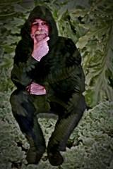 Garden gnome (Allan Saw) Tags: portrait man male self garden gnome sp