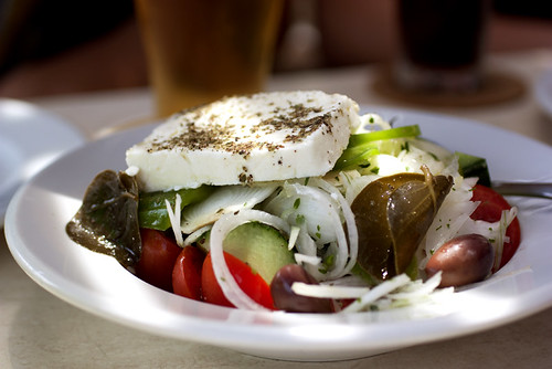 greek salad @ irini's cafe