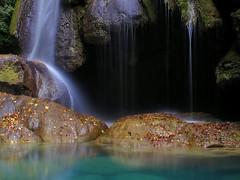 Hilos de seda. (jaecheve) Tags: espaa water ro waterfall spain navarra cascada urederra