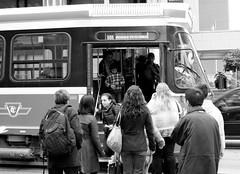 Boarding The Dundas Car (MrDanMofo) Tags: toronto ttc passengers transit dundas streetcar lrt torontotransitcommission mrdanmofo
