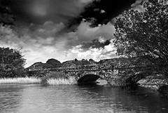 Bridge mono edit (Carl-B Landscape photography) Tags: bridge trees sky lake wales clouds river snowdonia llynpadarn nikond200 hitechfilters nikon1870mmafs leeholder
