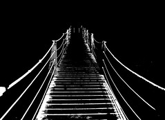 verso l'ignoto (viaggiaresiii) Tags: bw bn ponte infinito bianco nero funi ignoto linee blackwhitephotos tagviaggia