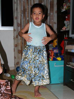 Julian wearing sarong