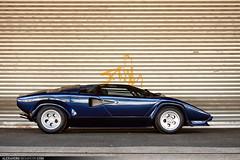 Lamborghini Countach 5000S (Tex Mex (alexandre-besancon.com)) Tags: blue paris france car concrete photo amazing industrial best 80s 70s shooting lamborghini supercar weber countach carburetor 5000s quattrovalvole