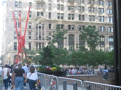 Occupy Wall Street: The red statue