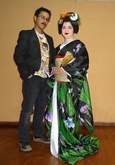 Otosan & Hatsumaru (Ryuumori - Danna) Tags: maiko geiko geisha kimono sakko henshin erikae