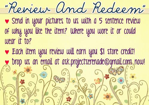 Review & Redeem