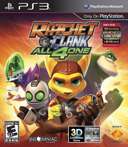 Ratchet & Clank: All 4 One Arte da Caixa