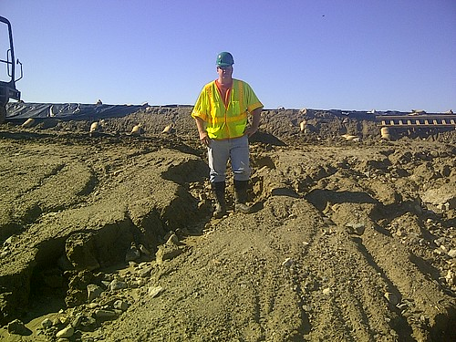 NRCS Massachusetts civil engineer Jim Lyons oversees operations at the Nichols Dam.