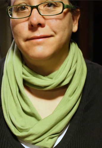 Infinity scarf from a tshirt